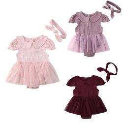 На возраст от 0 до 24 месяцев, летняя одежда для малышей, для новорожденных детей одежда из хлопка для маленьких девочек; Платье-комбинезон од...