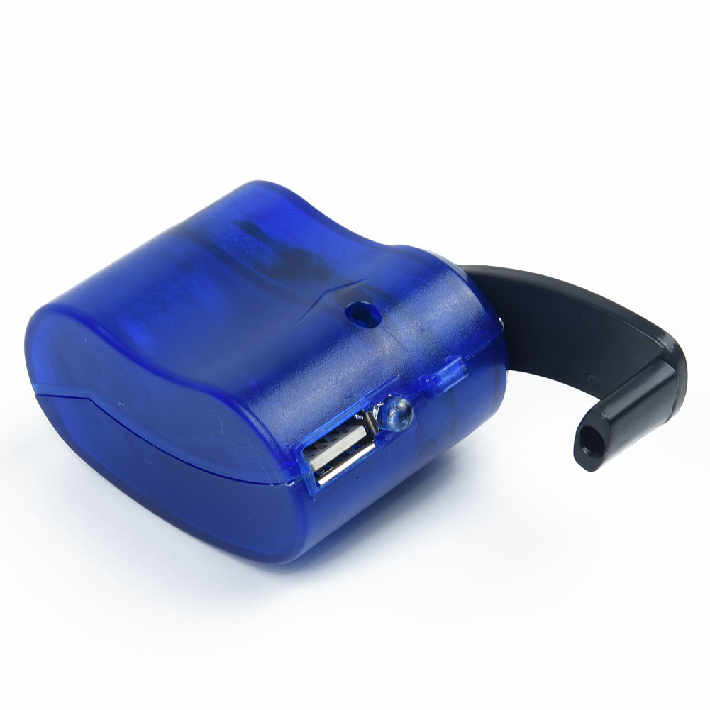 USB mobile phone charger Emergency charger hand crank Camping Charger