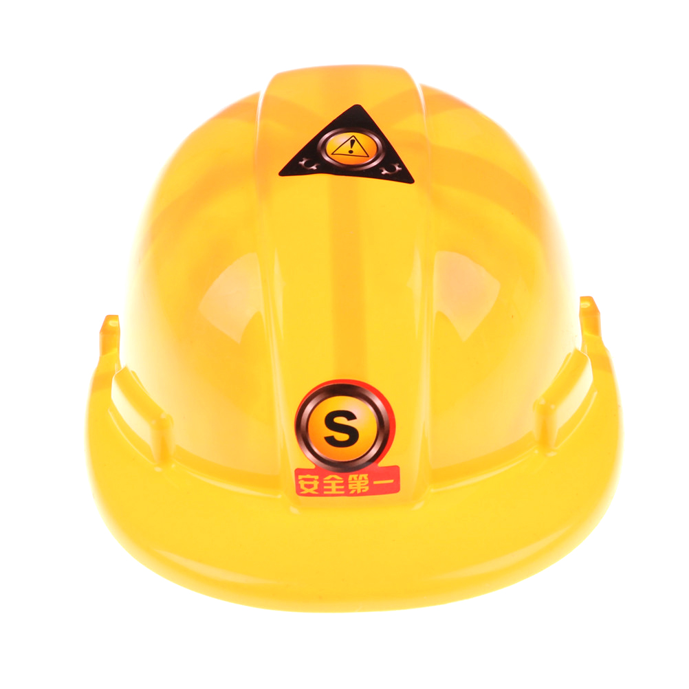 20.5*7*9cm New Yellow Simulation Safety Helmet Pretend Role Play Hat Toy Construction Funny Gadgets Creative Kids Children Gift