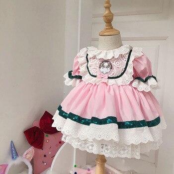 2020 летнее платье принцессы с короткими рукавами для девочек Пышное Платье для девочек Детские платья в стиле Лолиты для девочек, детское пл...