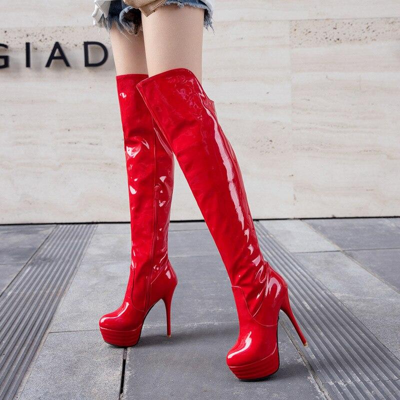 Worldwide Delivery Thigh High Boots Platform In Nabara Online