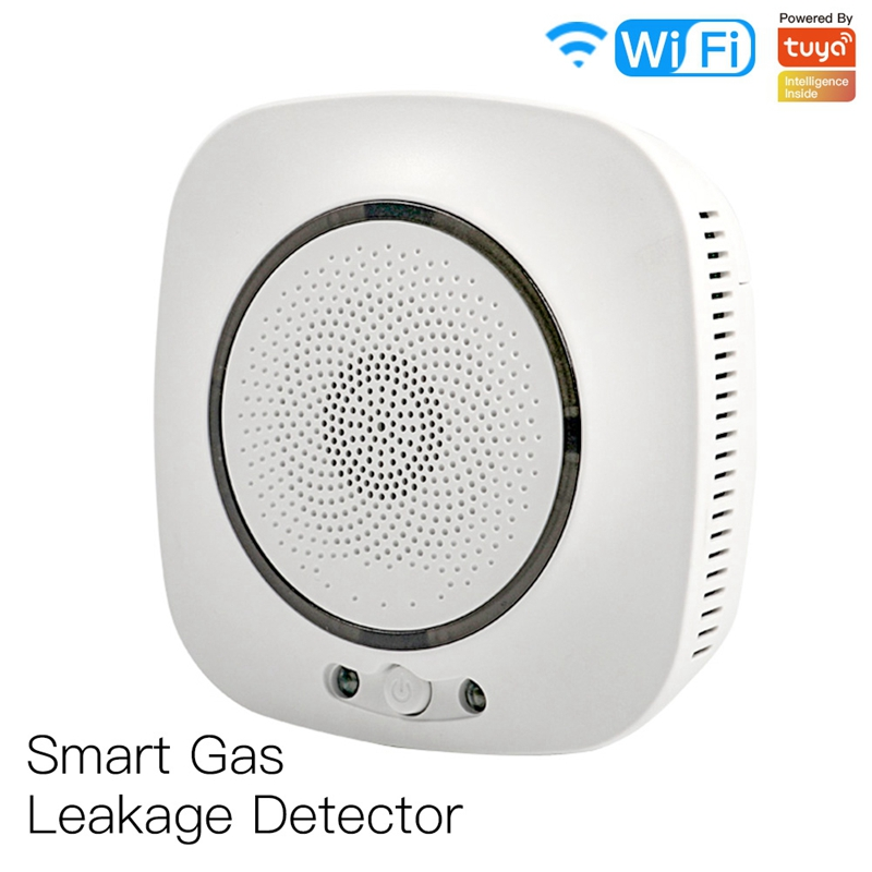 WiFi Smart Gas Leakage Fire Security Detector Gas Combustible Alarm Sensor Smart Life Tuya App Control Home Security System EU P