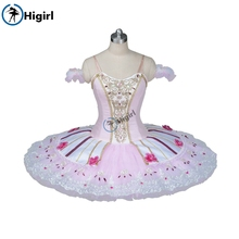 peach fairy professional tutu pink nutcracker ballet costumes women classical kids pancake BT9086