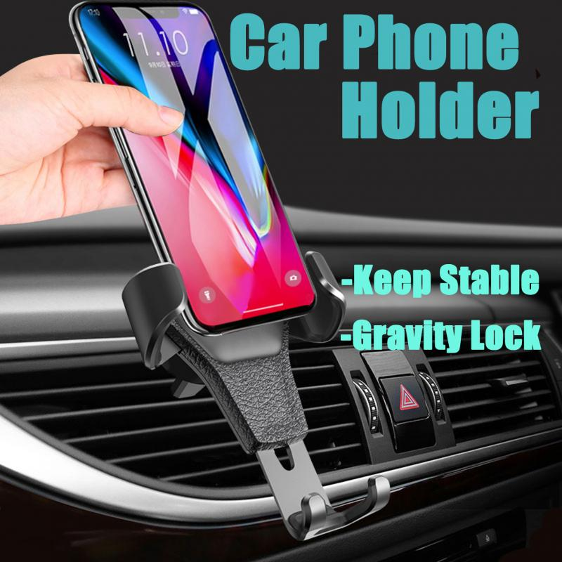 Car Phone Holder Anti-Shake No Magnetic Air Vent Mount Clip Support Universal For 4.7