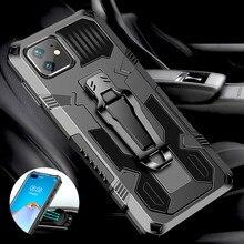 Para iPhone 11 caso Clip de cinturón armadura a prueba de golpes para iPhone 12 mini pro 11Pro Max Mini XR XS X 7 8 6 Plus SE 2020 cubierta del teléfono