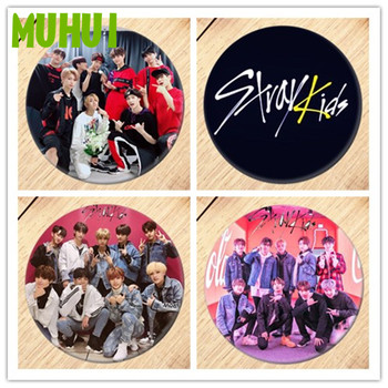 Free Shipping Kpop Stray Kids Brooch Pin Badges For Clothes Backpack Decoration Jewelry B053 free shipping kpop bigbang gd top made brooch pin badges for clothes backpack decoration jewelry b058