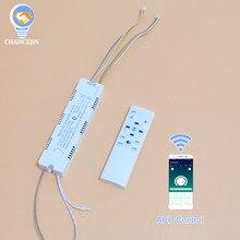 Controlador remoto do diodo emissor de luz do controle de bluetooth do aplicativo da movimentação da paleta do rf 2.4g (20-40w) x4 (40-60w) transformador da iluminação x4 para o diodo emissor de luz das cores duplas