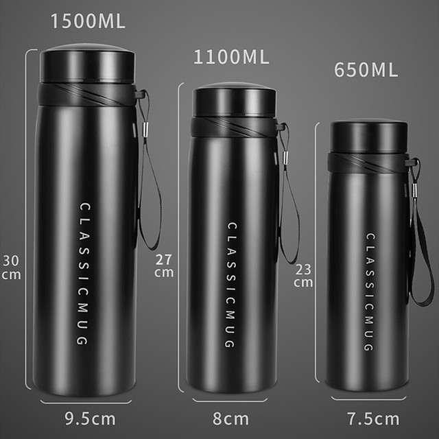 1500ml/1100ml/650ml Portable Double Stainless Steel Vacuum Flask Coffee Tea Thermos Sport Travel Mug Large Capacity Thermocup 6