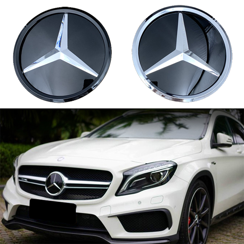 for <font><b>Mercedes</b></font> Benz Front Logo Emblem <font><b>Grille</b></font> Badge W156 W204 W205 <font><b>W210</b></font> W211 W212 W213 C E Class GLA GLK ML GL GLC GLE Accessories image