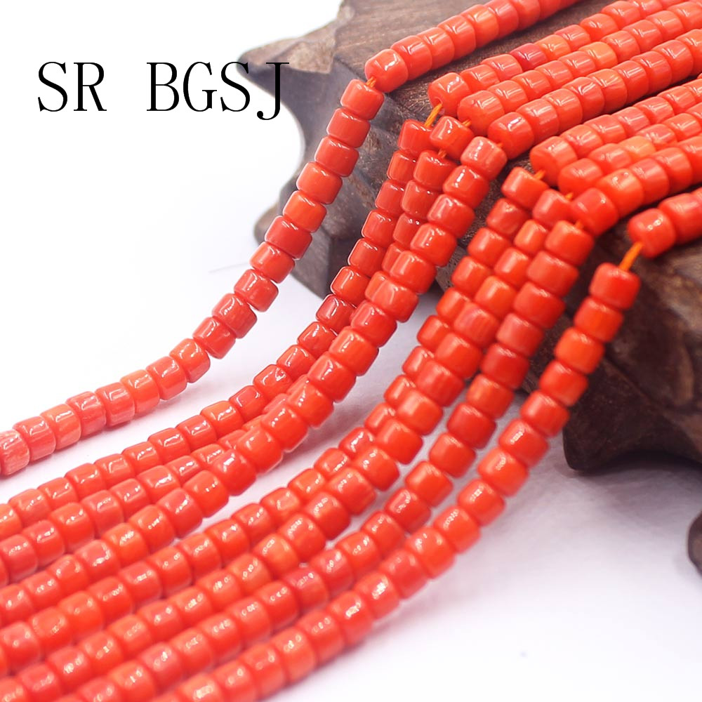 Бесплатная доставка, 3x4 мм, оптовая продажа, круглые оранжевые нейтральные коралловые бусины Rondelle Keshi, нитка 15 дюймов