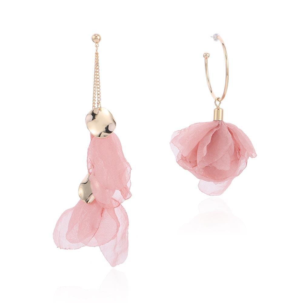 Trendy Gifts Pink Statement Jewelry Luxury Crystal Earrings Dangle Long Drop