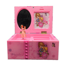 Rotating Ballet Girl Jewelry Storage Music Box Dancing Girl