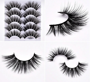 Image 5 - Pestañas postizas de pelo de visón, 1/5/10 pares, esponjosas/gruesas, pestañas largas, finas, naturales, maquillaje de belleza para los ojos, herramientas de pestañas de imitación