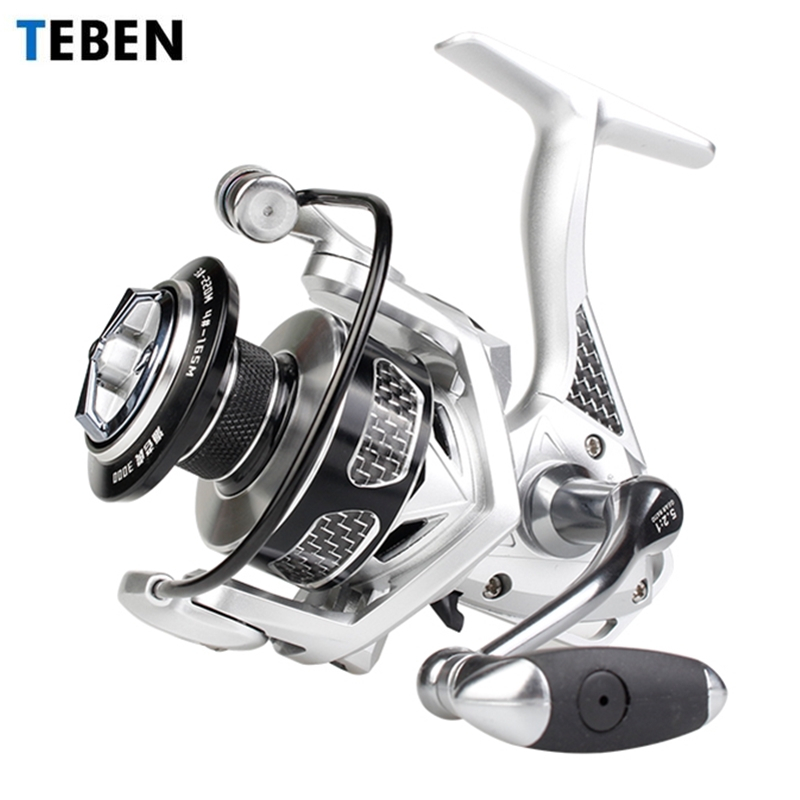 TEBEN Surf-Tiger Saltwater Jigging Spinning Fishing Reel 2000 6000 Max Drag 20kg Sealed Bearing Surf Boat Fishing Spinning Reel