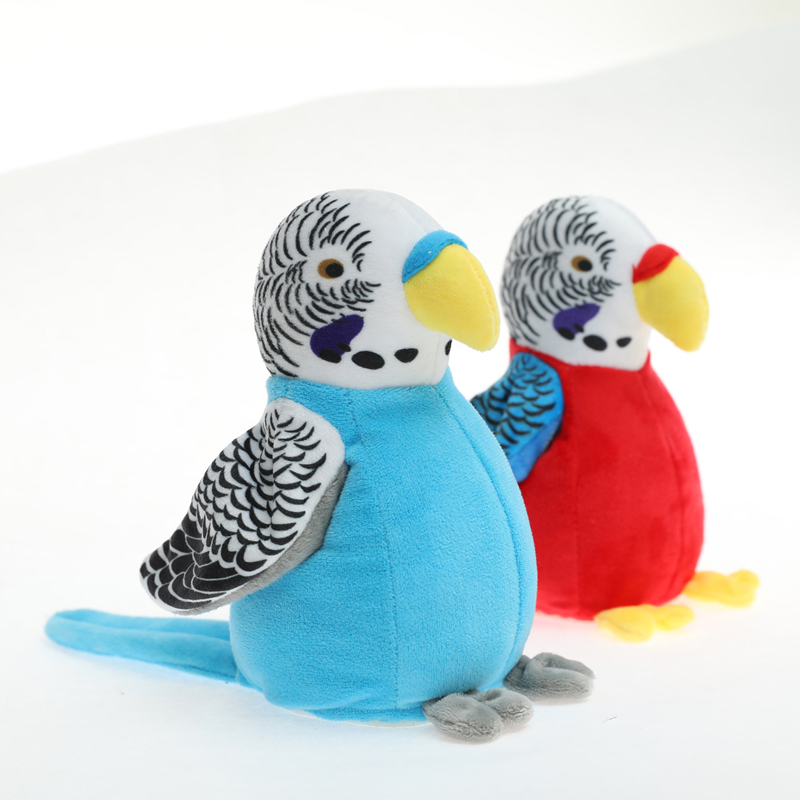 Talking Parrot Plush Pal Repeat What You Say Stuffed Animal Electronic Record Interactive Animated Bird Shake Wings Gifts