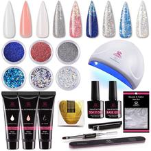 Starter-Kit Beautiful Powders Nail-Dryer-Tool Builder Gel Glitter Makartt with Hybrid