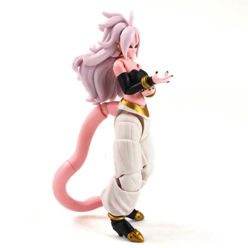 15cm Dragon Ball Z Majin Buu Android #21 dziewczyna figurki Anime Buu bitwy magia ruchome FIGHTER DBZ SHF działania figurka Model zabawki