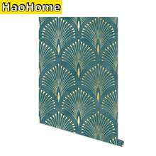 Dark Green Geometric Self Adhesive Wallpaper Modern Nordic Solid Color Peel and Stick Wall Paper Removable Contact Paper