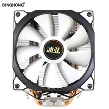 Bing Hong CPU Cooler 4 Pipa Panas 120 Mm 4 Pin PWM untuk Intel LGA 1150 1151 1155 1366 775 AMD AM4 AM3 AM2 Kipas Pendingin CPU PC Tenang(China)