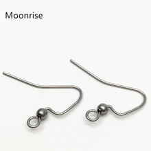 50Pcs/Lot Stainless Steel Earring Hooks Surgical Hook Earwire With Ball End Fish Ear Wire For Jewelry Making