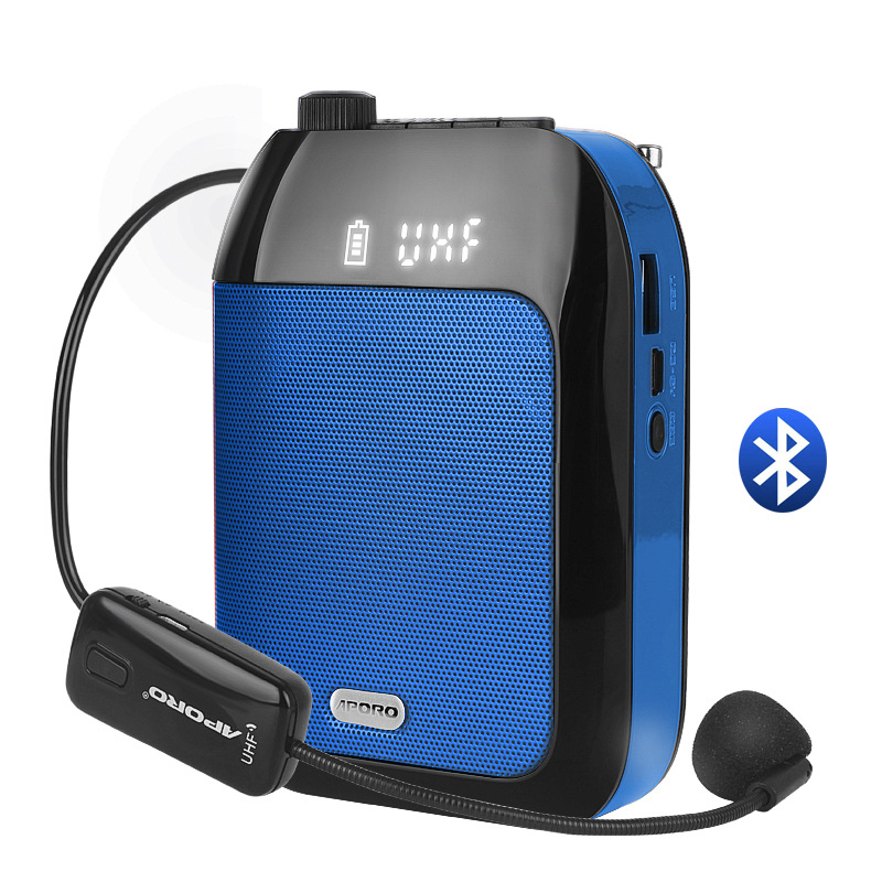 Bluetooth UHF Wireless Voice Amplifier Portable For Teaching Lecture Tour Guide Promotion U-Disk Megaphone Microphone Speaker