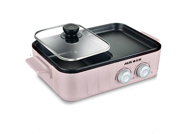 Oaks home multi-function grilled hot pot barbecue decoction one pot student dormitory small electric hot pot electric baking pan