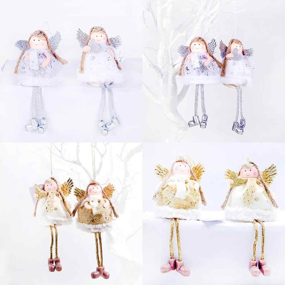 FENGRISE drewniana lalka anioł ozdoby świąteczne dekoracje do domu ełk wisiorek boże narodzenie dekor w kształcie drzewa 2019 Navidad Craft prezent Xmas