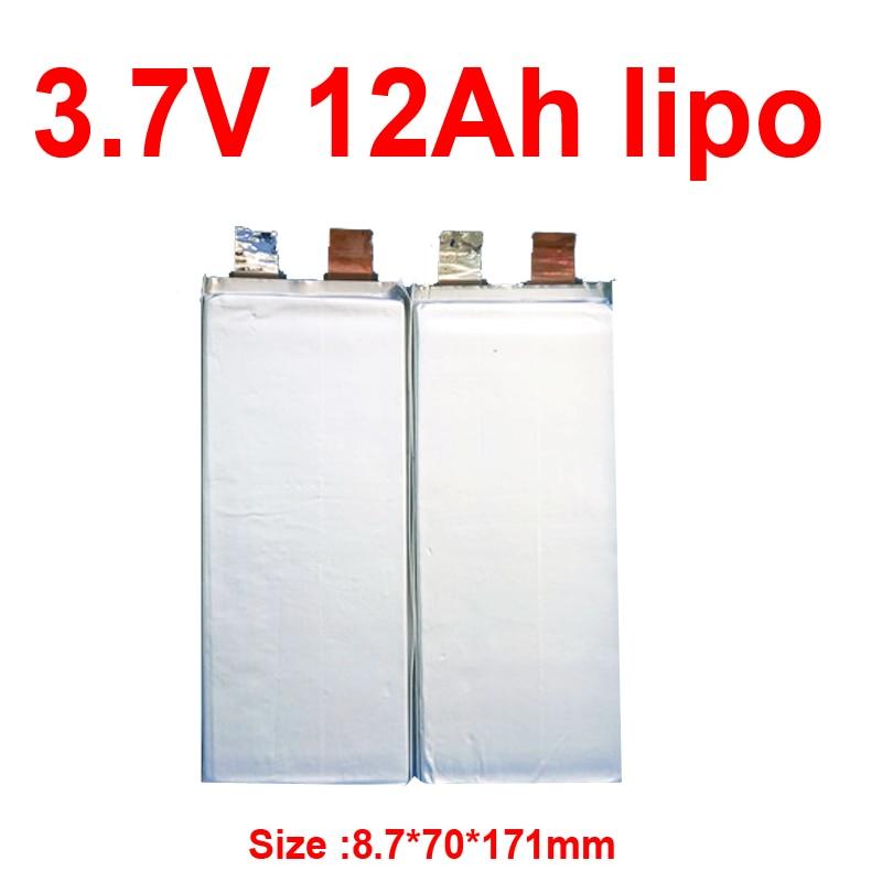 GTK-batería lipo de polímero de litio, 3,7 v, 12Ah, para bricolaje, 12V, 24V, 36V, 60Ah, inversor de scooter, ebike, luz de calle Solar, RV go kart