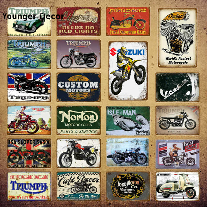 Triumph Metal Wall Sign Retro Classic Garage Motorcycle Dealer Motorbike Sign UK company