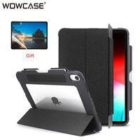 Durable Case for iPad Pro 12.9 2018 with Pencil Holder Transparent Shockproof Cover for iPad Pro 12.9 inch 3rd Gen Casing Shell