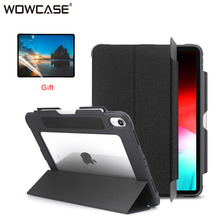 """For iPad Pro 12.9 2018 Case Pencil Holder Transparent Shockproof Heavy Duty Protective Tablet Cover for iPad Pro 12.9"""" Pro12.9"""