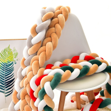 3M/1M Baby Bumper Bed Braid Portable Folding Bed Removable Bumper Crib Bumper Room Decor Cushion Bumper For Kids Christmas Gift