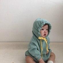 Winter Baby Meisje Bodysuits Baby Koreaanse Versie Van Pure Kleur Basic Driehoek Kruipen Kleding Katoen Bodysuits