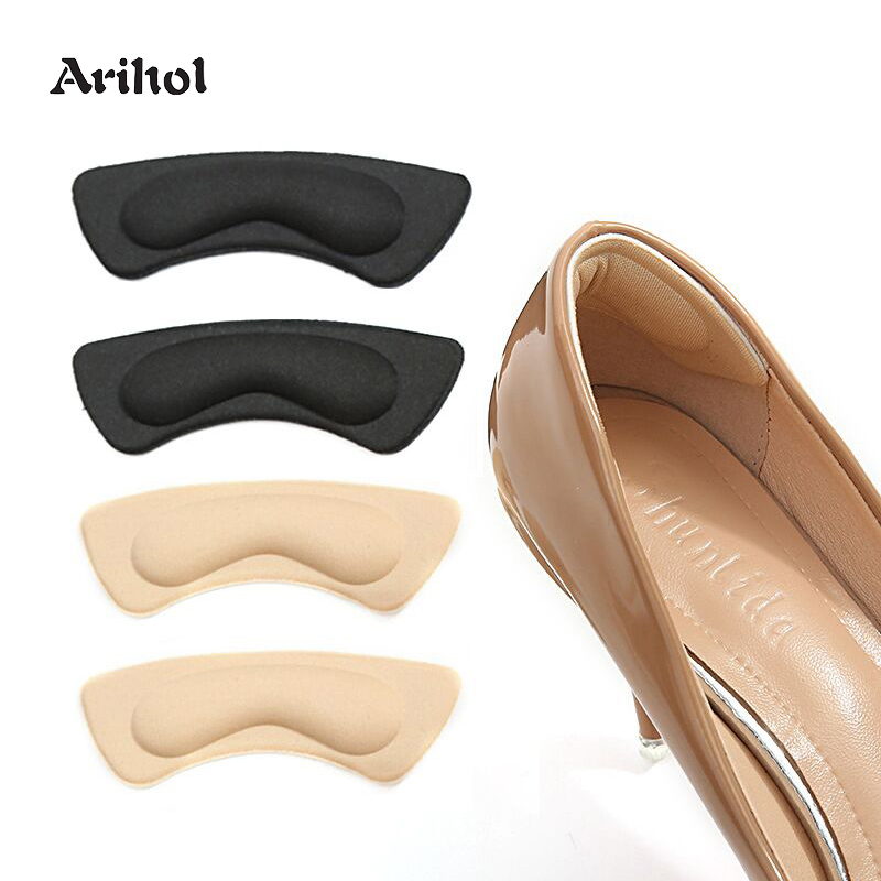 Heel Cushion Pads Sponge Self-Adhesive Grips Liner Foot Care Protector Shoe Inserts For Loose Shoes Preventing Heel Slipping