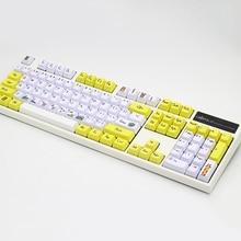 Dye Sub PBT Keycap 108 Key OEM Profile Keycaps For Cherry MX Switches Mechanical Gamer Keyboard Key Cap 104 Xd84 Motospeed Ck104 недорого