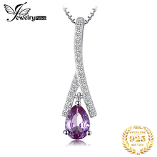 JewelryPalace 1.15ct Pear Created Alexandrite Sapphire Water Drop Pendant S925 Sterling Silver Fine Jewelry Not Include A Chain jewelrypalace luxury pear cut 7 4ct created emerald solid 925 sterling silver pendant necklace 45cm chain for women 2018 hot