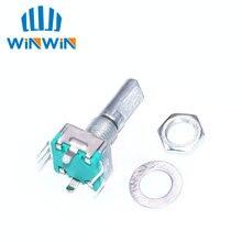 Original, codificador rotativo, interruptor de código/ec11/potenciômetro digital de áudio, com interruptor, 5pin, comprimento do punho 20mm