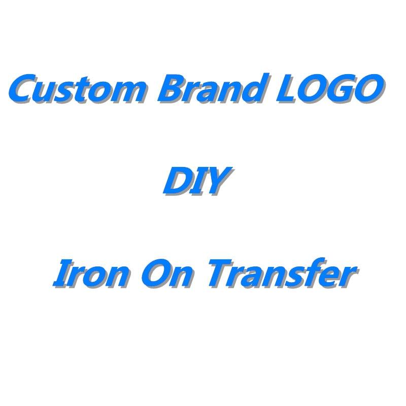 DIY Heat Transfers Stickers Custom LOGO Patch Iron-On Transfers For Clothes DIY Thermal Transfer Hot Vinyl Iron Sticker