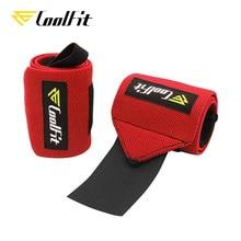 CoolFit Тяжелая атлетика обертывания для поддержки запястья с петлей для большого пальца тренажерный зал эластичные ремни для кроссфита силовой тренировки Powerlifting