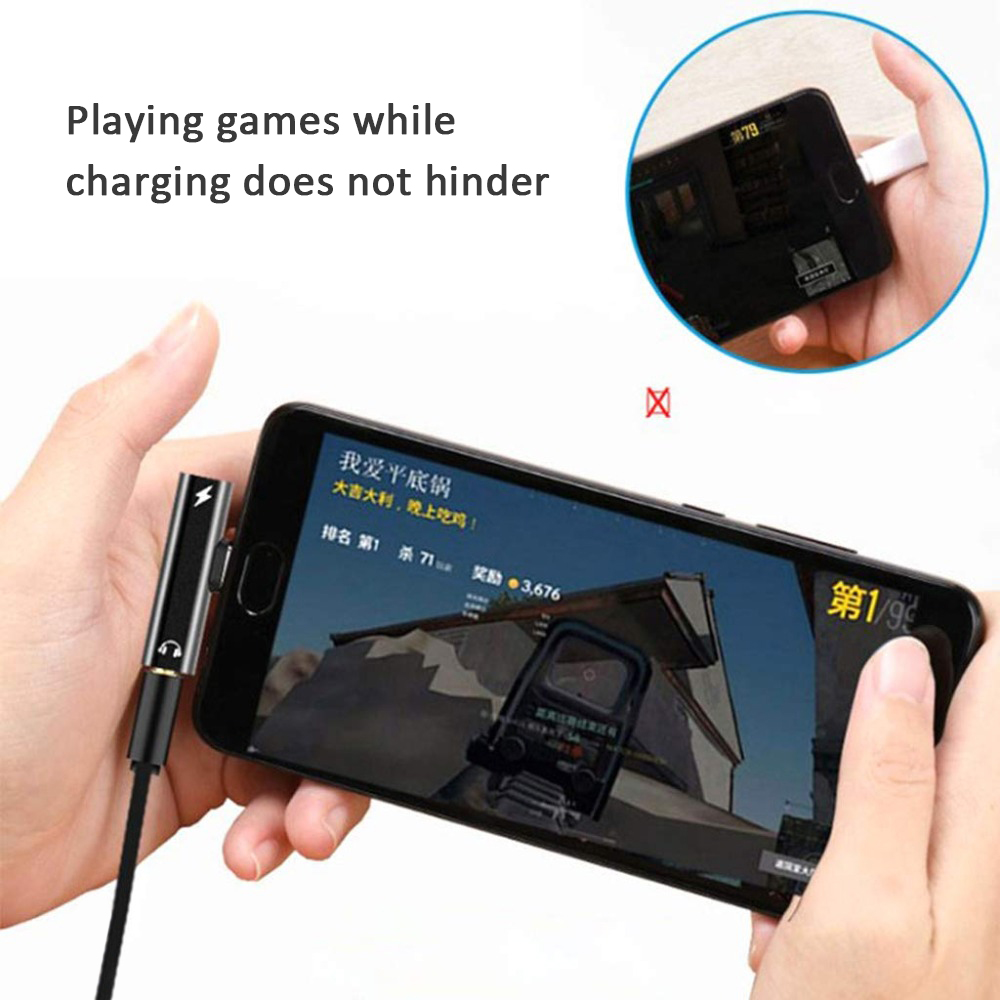 2 In1 Type C To 3.5mm Jack Earphone Charging Converter USB Type-C Audio Adapter Audio Jack USB C Cable For Samsung Xiaomi Huawei