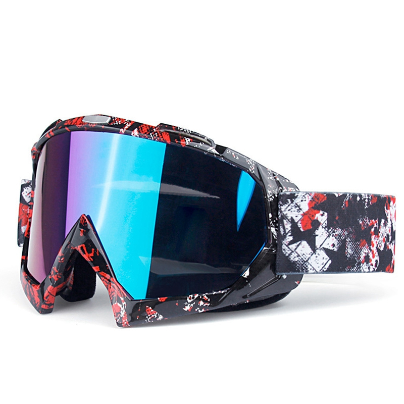 NEW-Ski Men And Women Anti-Fog Winter Glasses Goggles Anti-UV Skis Snow Outdoor Riding Off-Road Helmet Mask Goggles Windproof Sk