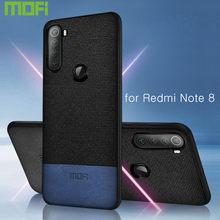 Untuk Xiaomi Redmi Note 8 Case Cover Mofi Original Redmi Note 8 Pro Penutup Belakang Magnet Kain Note8 Shockproof hard Case(China)