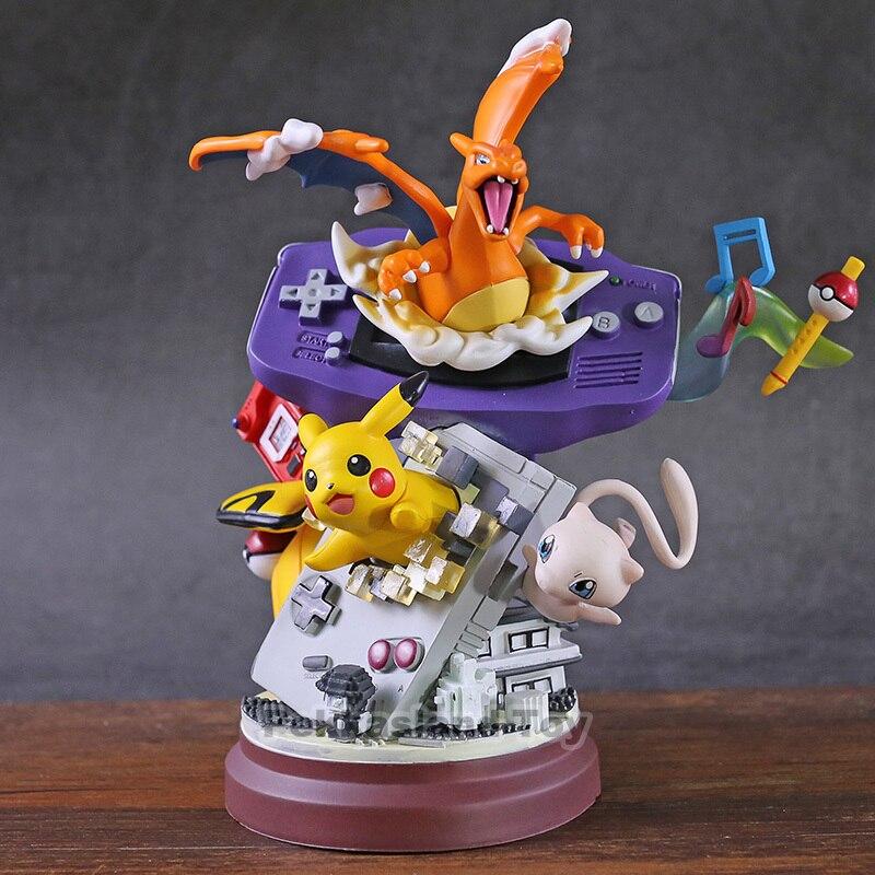 Anime Pokemon Charizard pikachu Mew PVC Figure Resin GK Statue Toy No Box 20cm