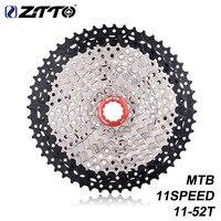 Ztto mtb 11 속도 11-52 t 자전거 플라이휠 카세트 11 velocidade 넓은 비율 자전거 대형 치아 freewheel 스프로킷 산악 부품