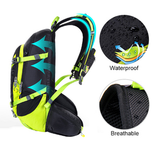 Image 2 - Zaino da idratazione impermeabile 20L, zaino da uomo riflettente notturno, borse da campeggio da trekking traspiranti con parapioggia