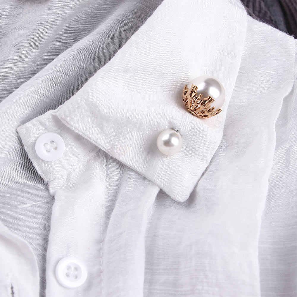 Sweater Selendang Gesper Pin Elegan Sederhana Bros Mutiara Imitasi Pengantin Pernikahan Perhiasan untuk Wanita Pesta Perjamuan Perhiasan