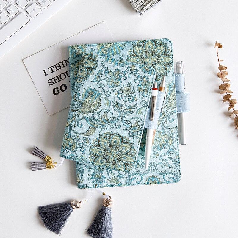 Kawaii Fabric Cover For Standard A5 A6 Notebook Refillable Planner Organizer Notebook Cute Tassel Diary Notebook Bullet Journal
