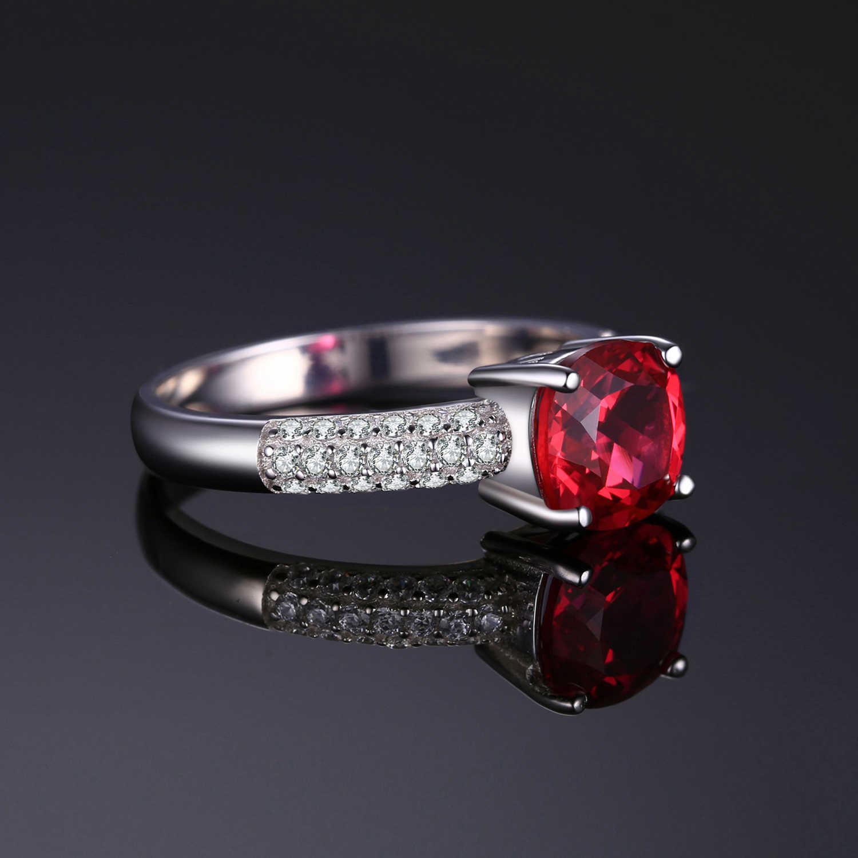 Jewelrypalace Đệm Tạo Ra Màu Đỏ Nhẫn Nữ Bạc 925 Cho Nữ, Nhẫn Nữ Đính Đá Silver Bạc 925 Đá Quý Trang Sức
