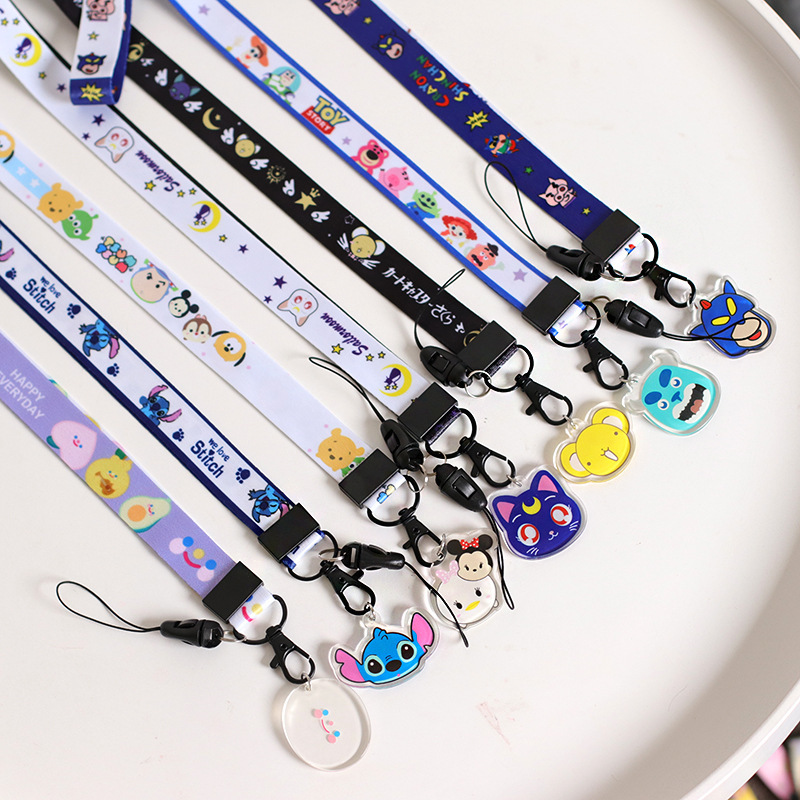 Fashion Ribbon Band Keychain Ribbons Phone Case Lanyard Keychains For Women Men Key Chain Car Key Ring Pendant Jewelry
