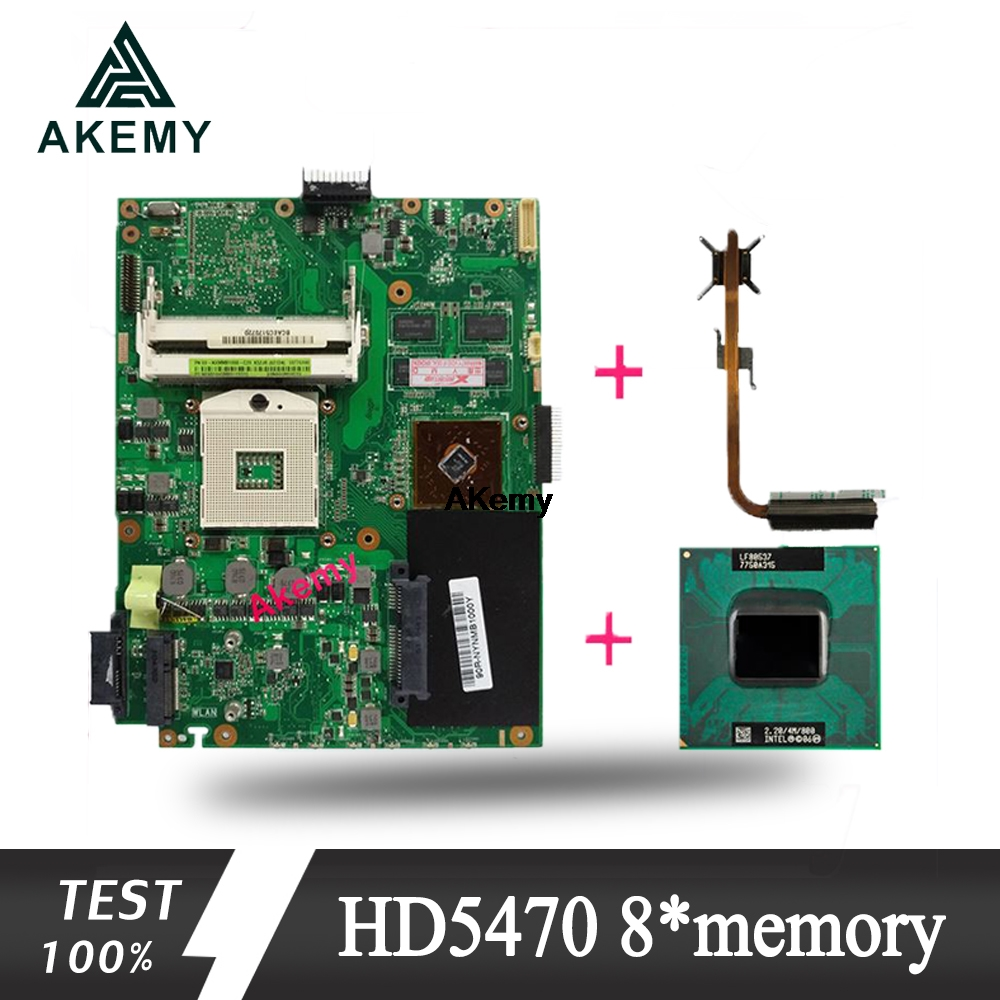 Akemy With HD5470 8*memory 1GB Laptop Motherboard For ASUS K52DY A52D K52DE K52D X52D K52DR Mainboard Send I5 CPU + Heatsink!!!